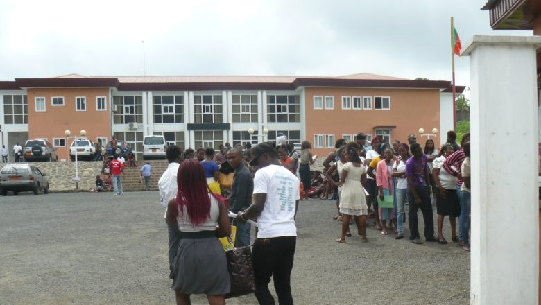 Students checking results at the GCE Board