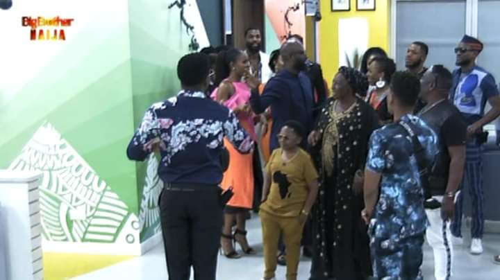 BBNaija Celebrity Guests Mama G, J.Okafor, Chinedu. I, Dakore, Osas, Atafo And Lala Dine With Housemates