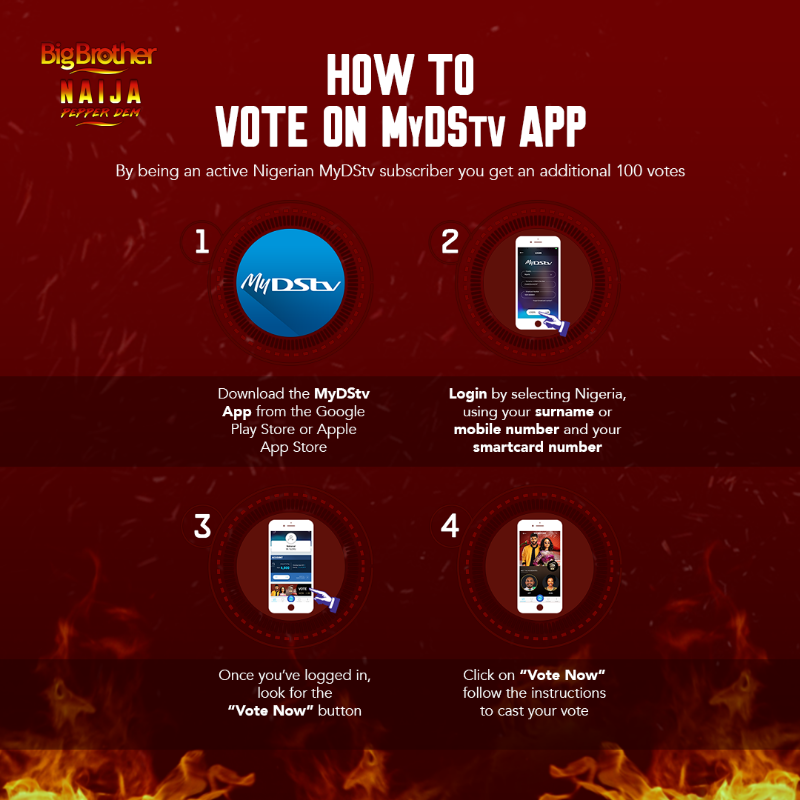 How To Vote On BBNaija PepperDem Gotv and DStv Apps