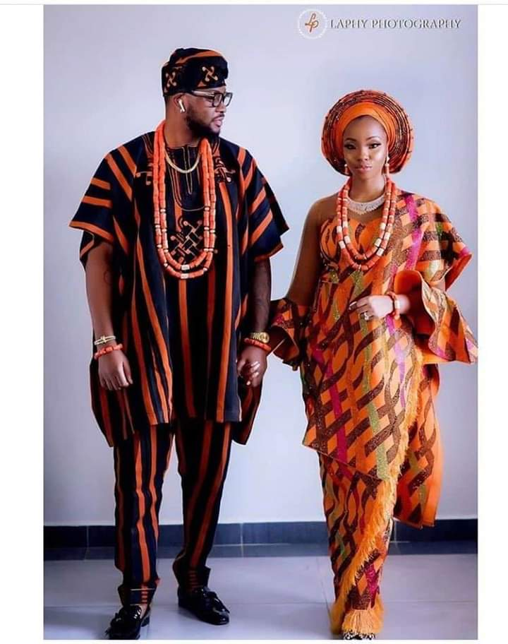 Teddy A and Bam Bam Wed Traditionally: bride and groom