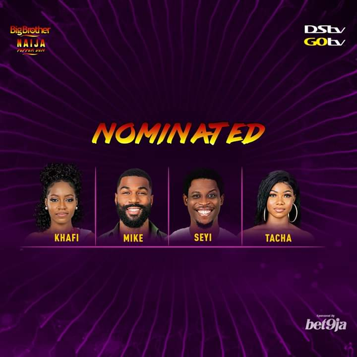 BBNaija Week 11 Nominations in the big brother house