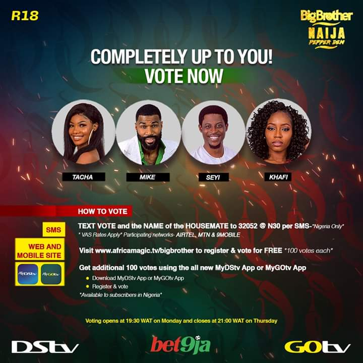 BBNaija Week 11 Nominations